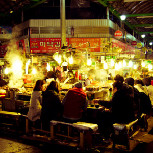 Gwangjang Market after dark