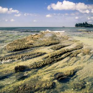 Rock formations at Pantai Avoi