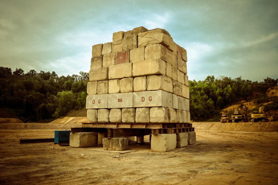 A mysterious concrete monument