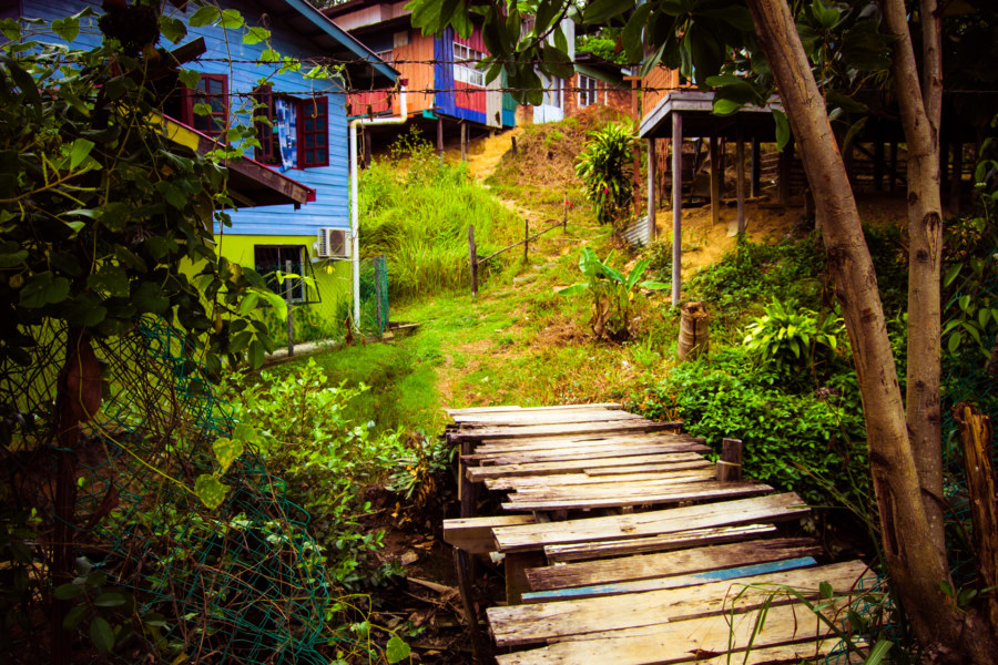 Into the kampung