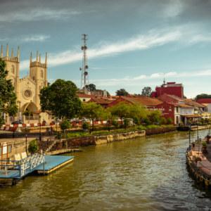 The river running through the heart of Melaka