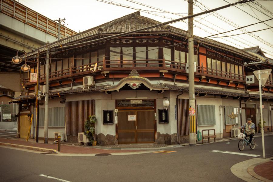 A historic building in Tobita Shinchi