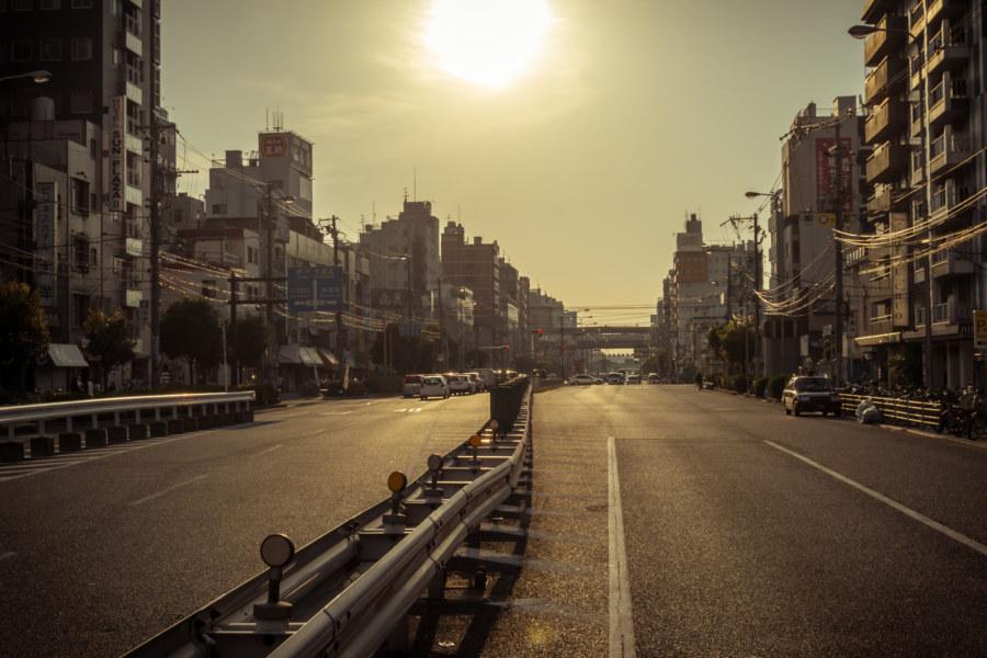 Sundown over Shinimamiya