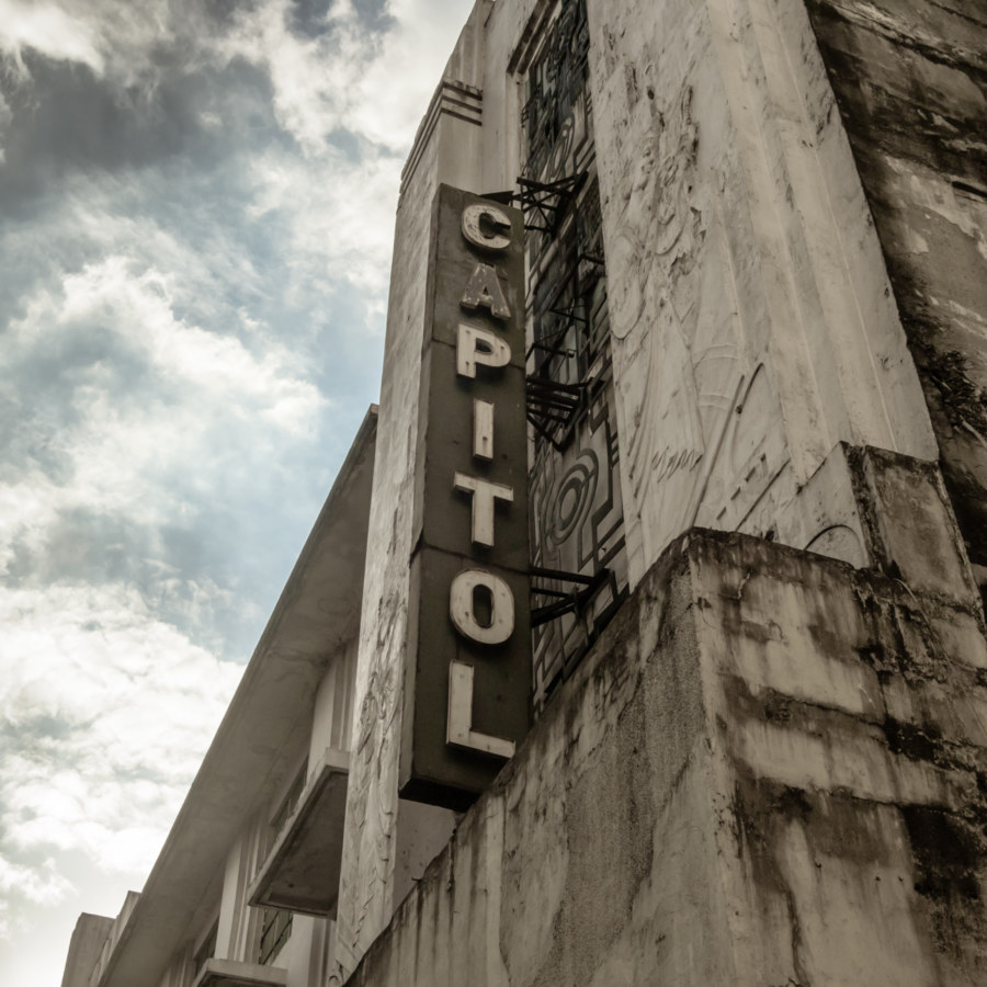 Capitol Theater sign on Escolta Street