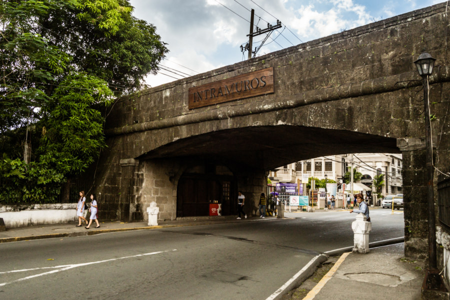The south entrance to Intramuros in Manila