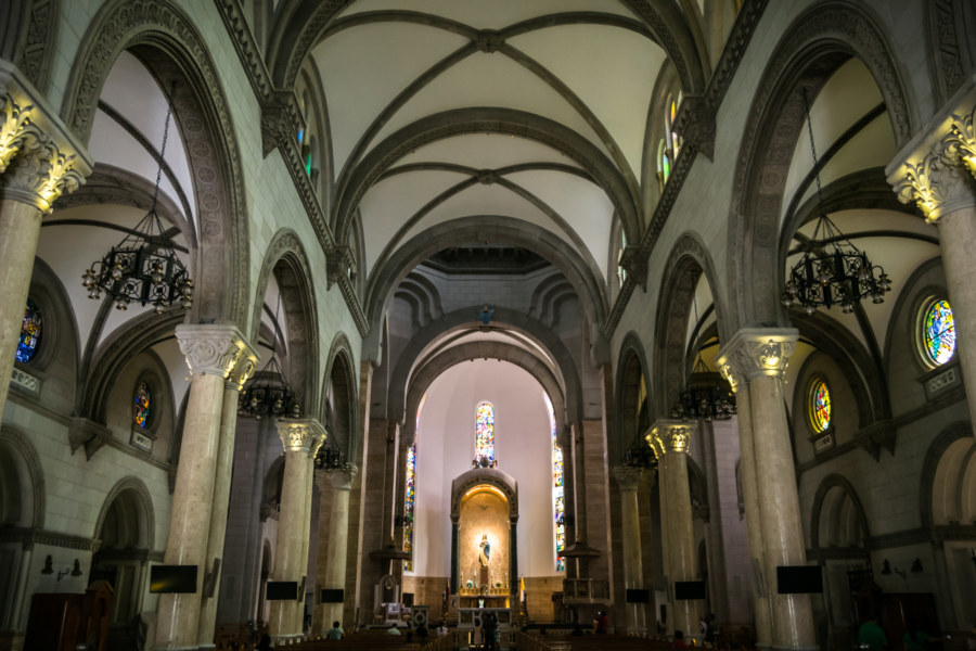 Inside the Manila Cathedral