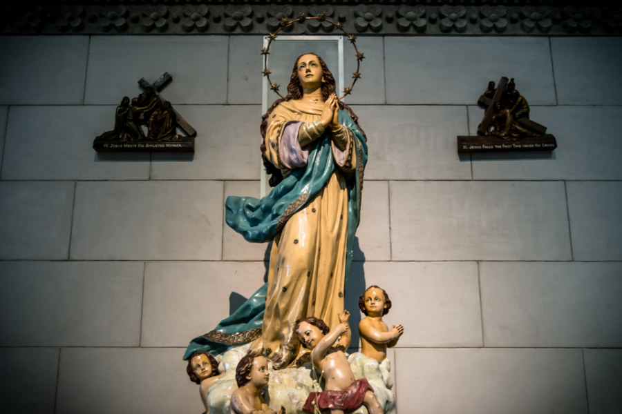 Devotional statue at the Manila Cathedral