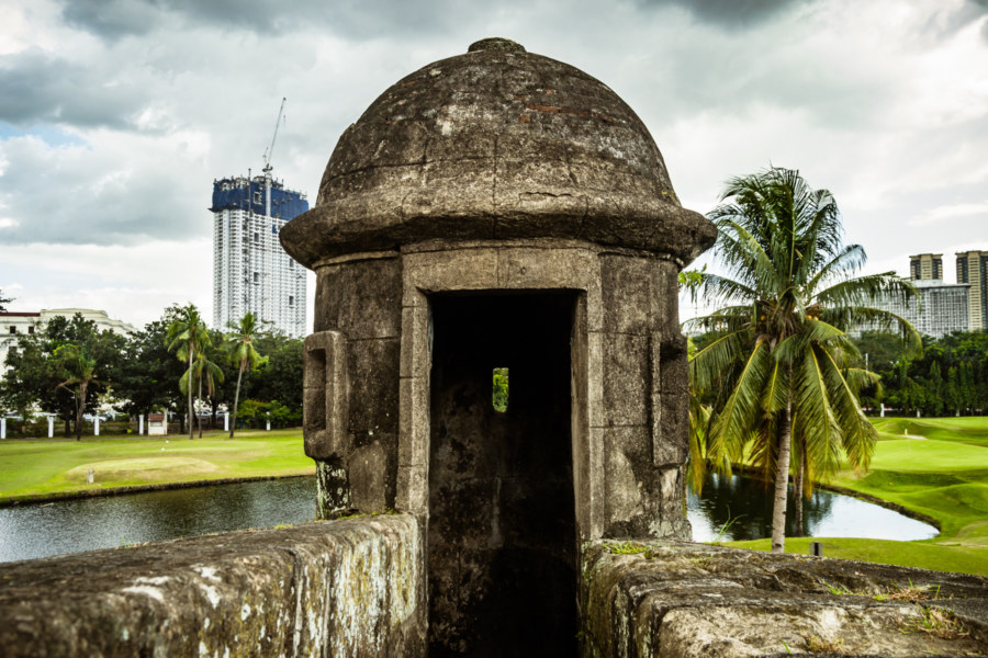 All along the watchtower in Intramuros
