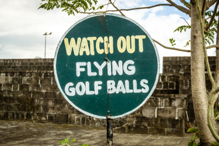 Watch out for flying golf balls in Intramuros