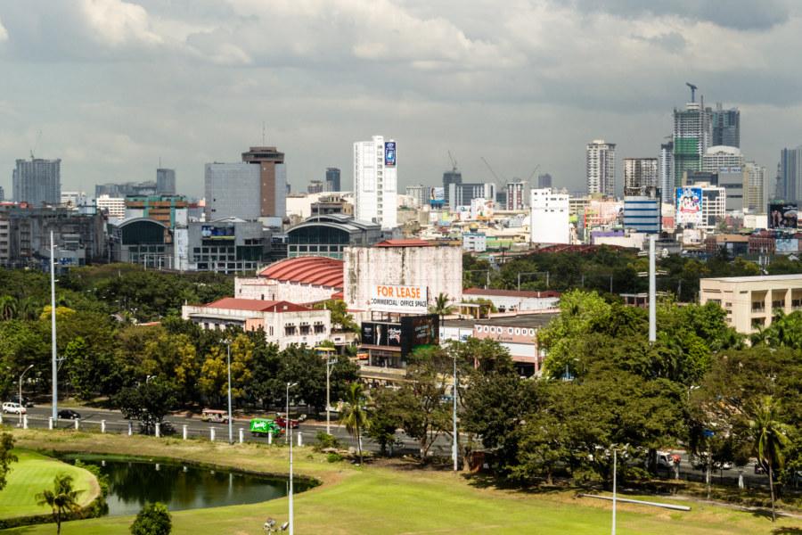 Manila Metropolitan Theater from Intramuros