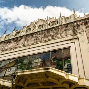 A closer look at the top of the Manila Metropolitan Theater