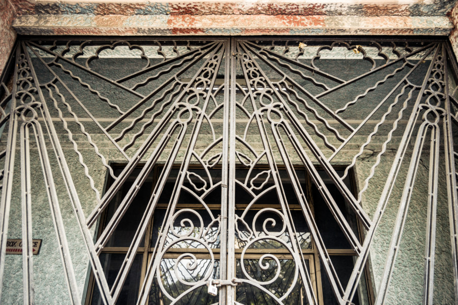 Ironwork at the Manila Metropolitan Theater