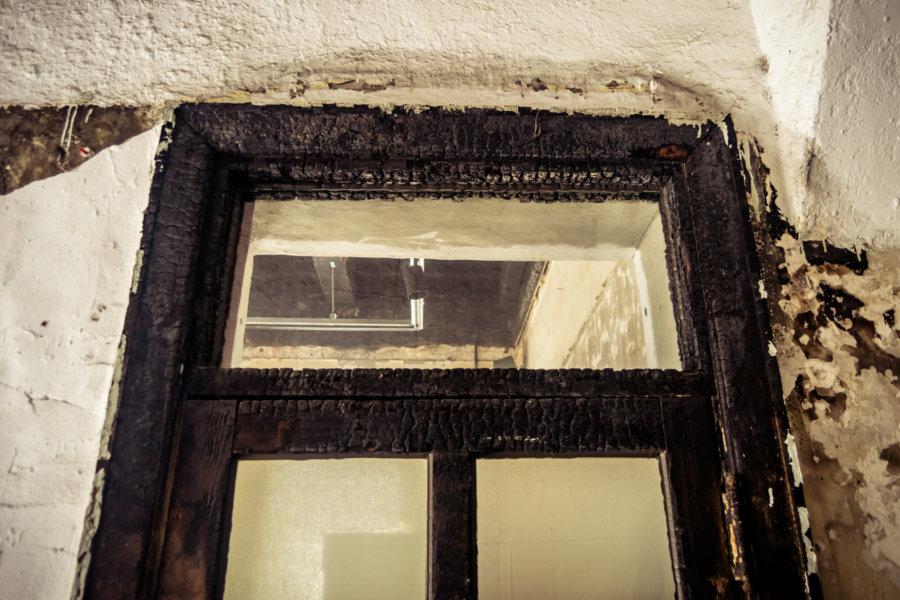 Scorched Door Inside Baekje Hospital