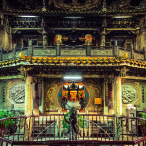 Central courtyard in Mazu temple, Lukang