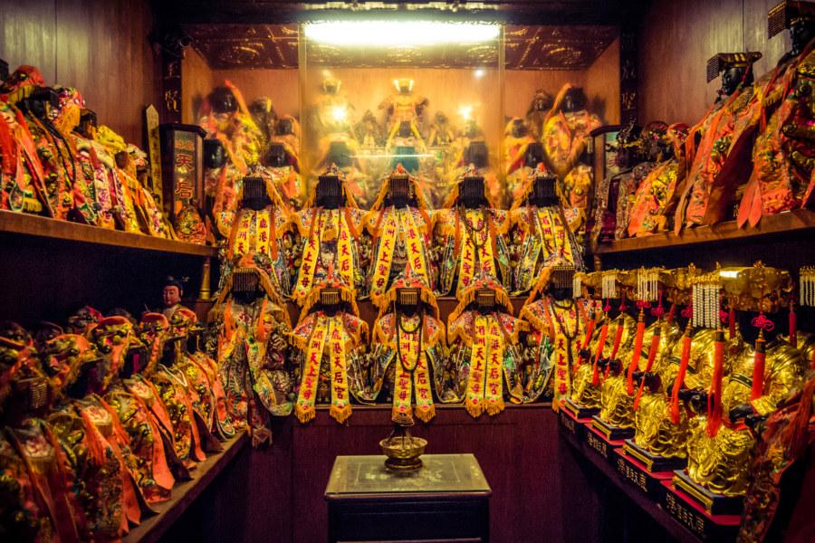 A shrine in Mazu temple