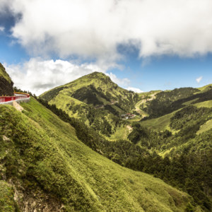 Crossing the central mountain range of Taiwan