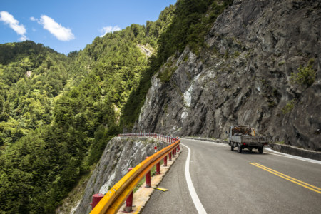 Trucking through Taroko Gorge