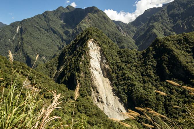 Landslide scar in Taroko Gorge