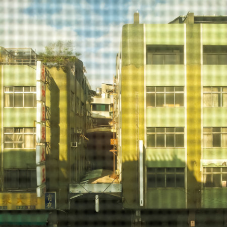 View through a screen in Changhua City