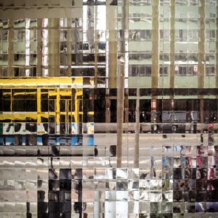 Looking through my front door in Changhua City