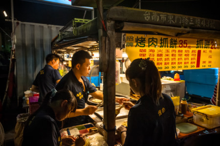 Grilled meat roll at Jingcheng Night Market