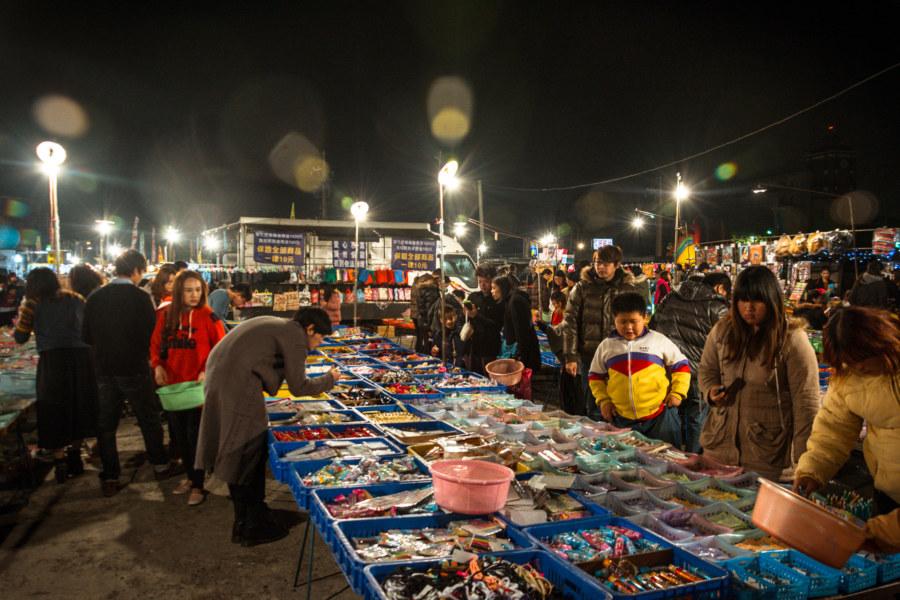 10 dollar shop at Jingcheng Night Market