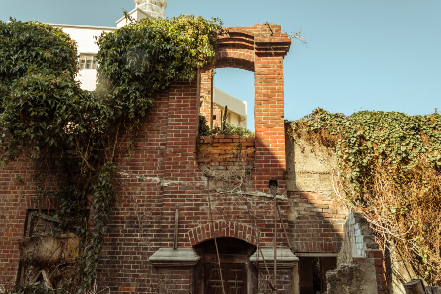 The back of the old mansion