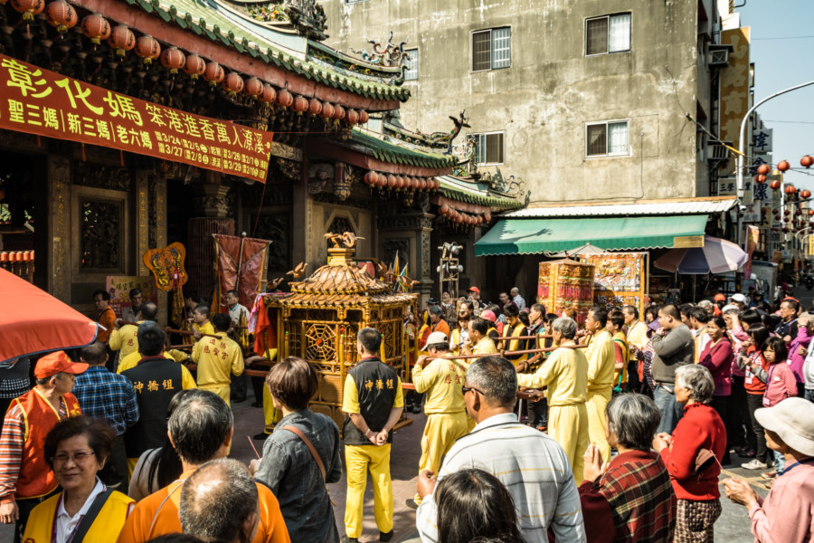 A palanquin enters Nanyao Temple, Changhua City