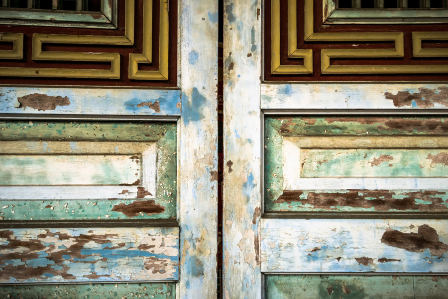 Doors to the main hall of the Changhua Confucius Temple
