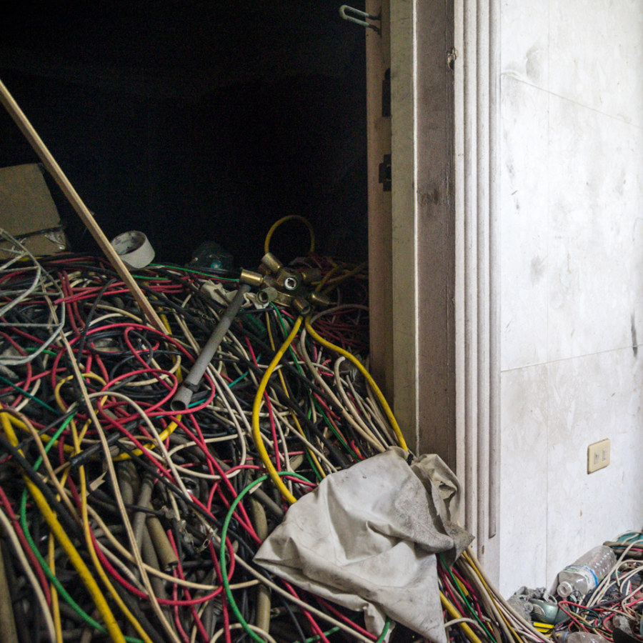 A room full of cables