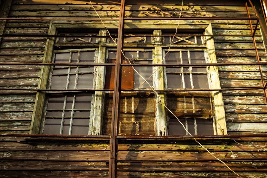 An old wooden facade in Changhua City