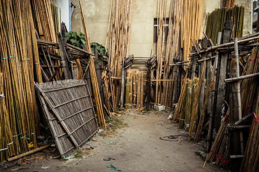 Bamboo scaffolding yard, Changhua City