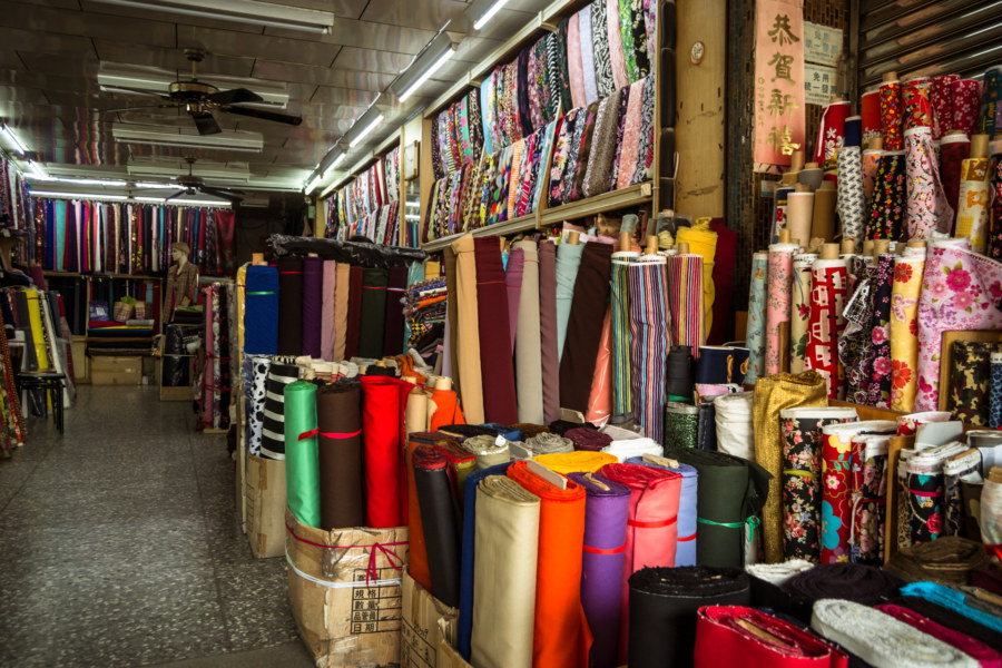 A fabric shop in Changhua City