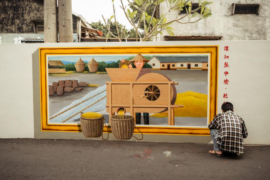 Changhua City alleyway mural