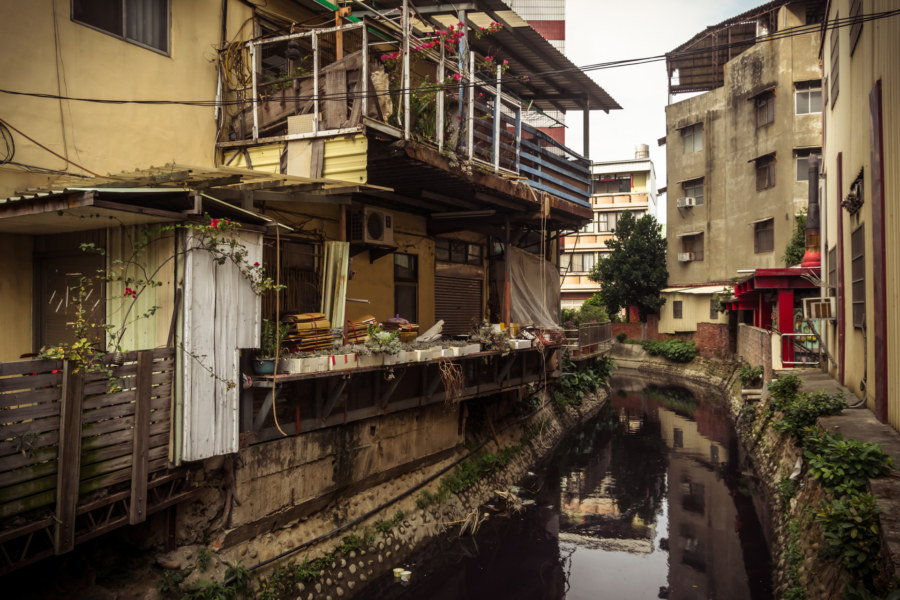 A canal in Changhua City