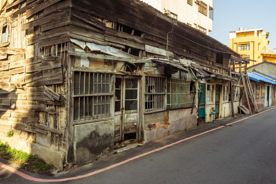 An old wooden house in Changhua City