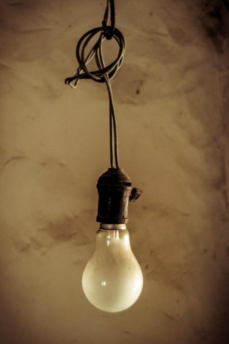 Lightbulb dangling
