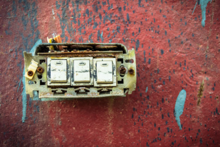 Archaic lightswitch in the old factory