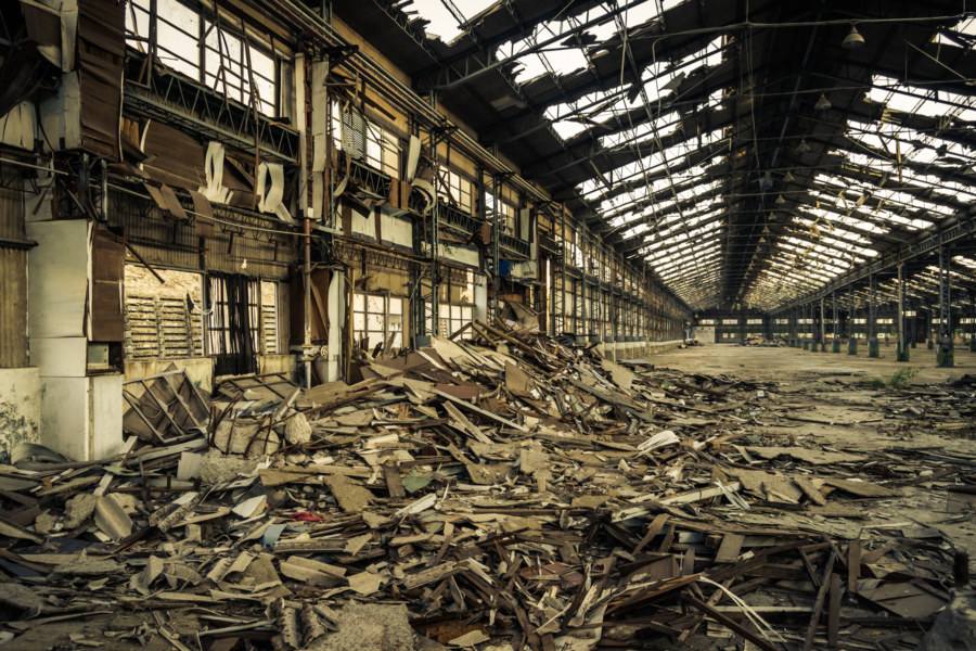 Sifting through the wreckage at the old automotive plant