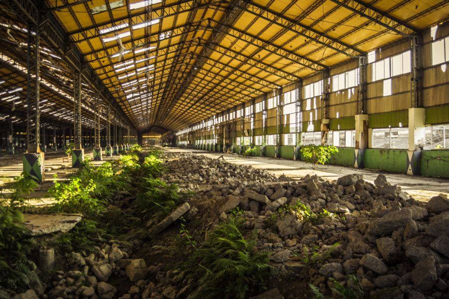 Life in the trenches of an abandoned automotive factory