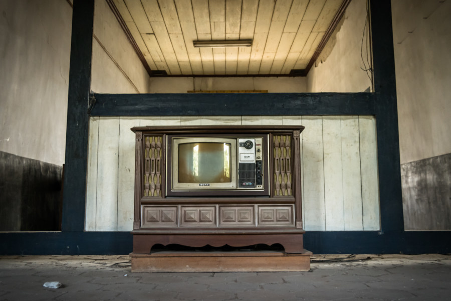 Abandoned television in Fenyuan