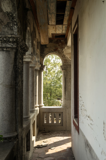 The second floor balcony at Hong Family Mansion II