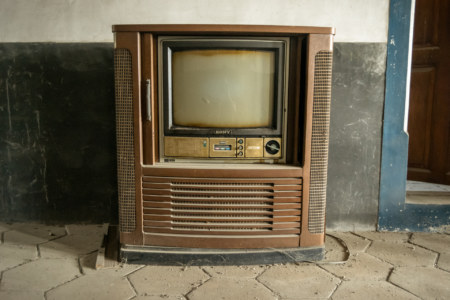 A second abandoned television set