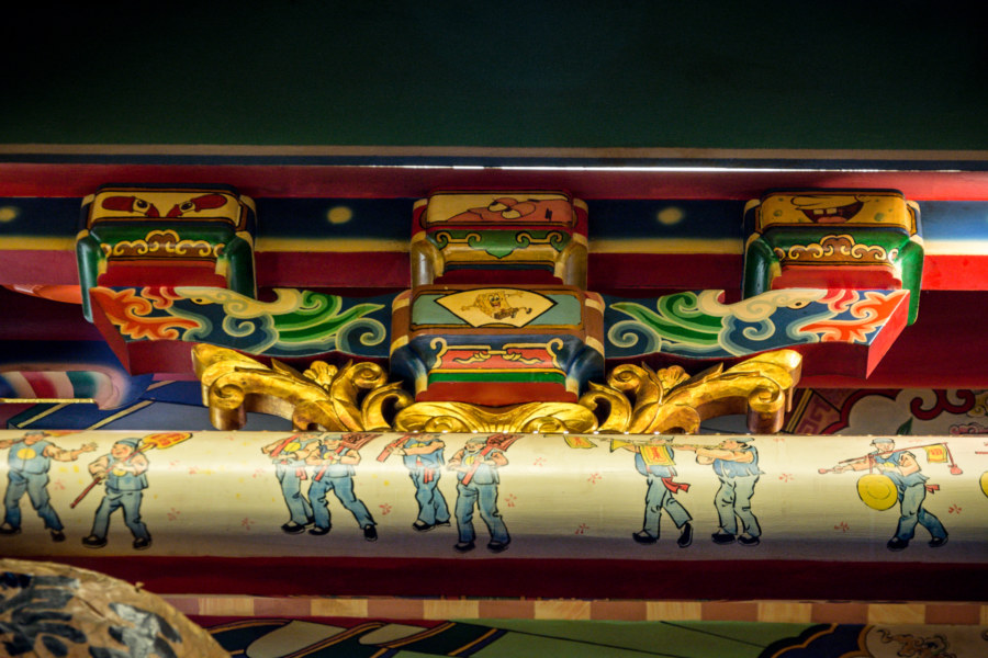 A surprise inside Yuqu Temple
