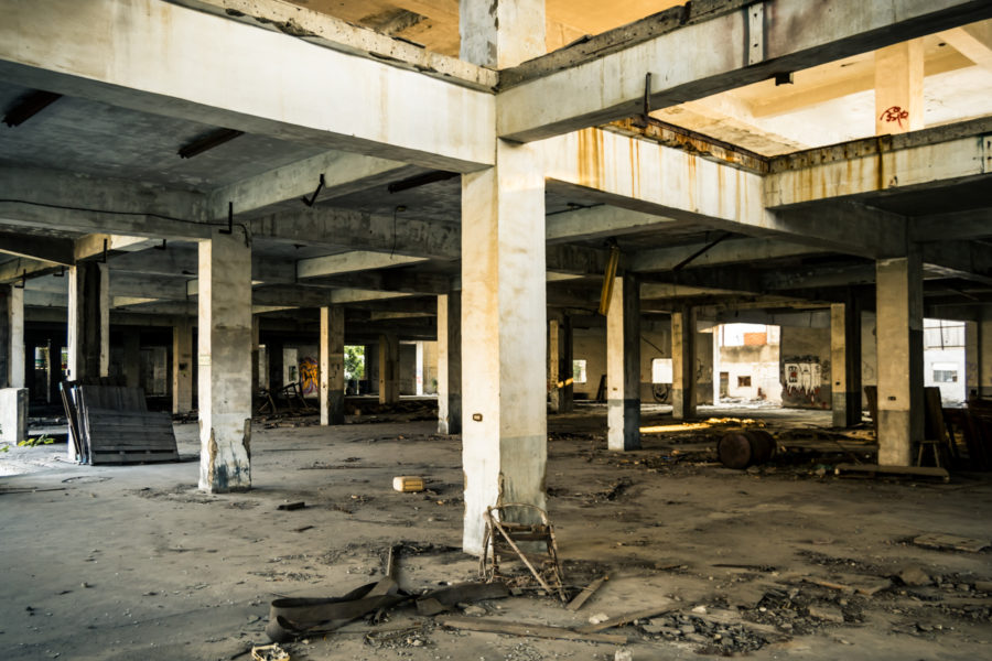 Ground Floor of an Abandoned Factory in Yuanlin