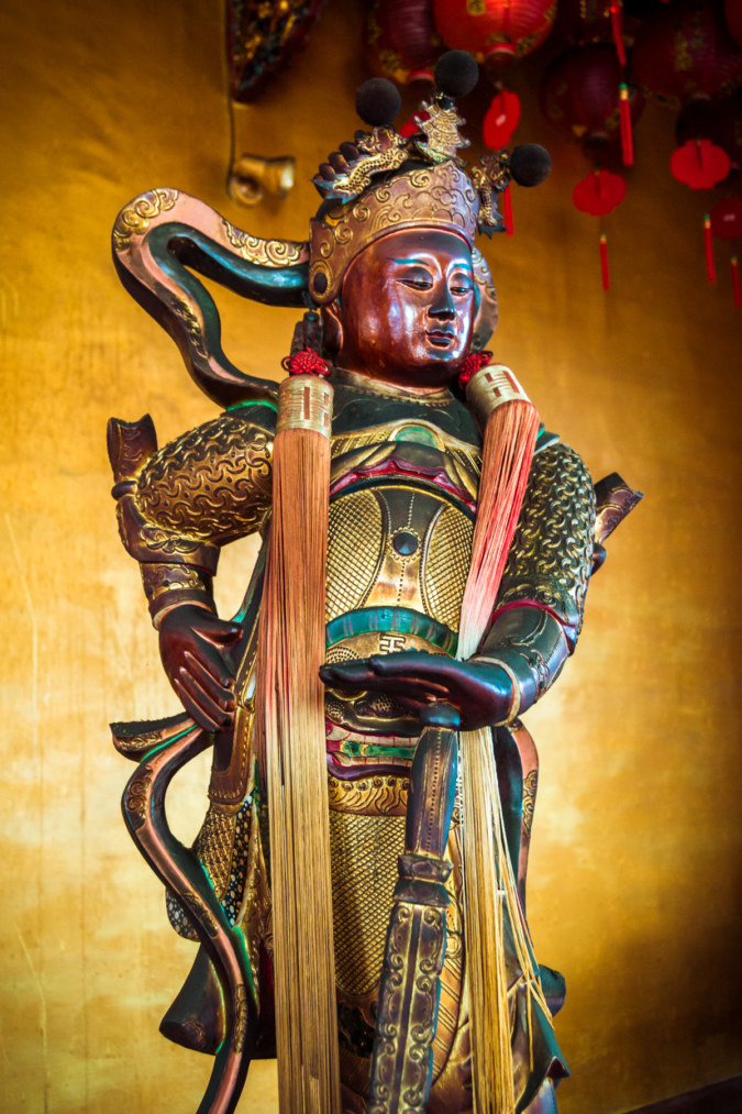 Weituo, a guardian bodhisattva in Hengwen Temple