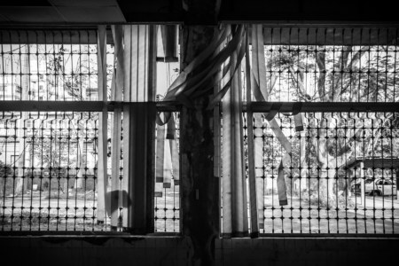 Tortured window blinds