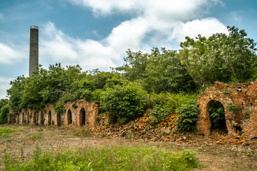The Crumbling Ruins of a Brick Kiln in Liujiao