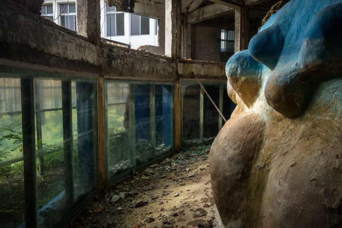 The view from within the abandoned aquarium