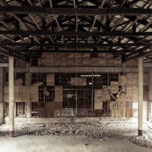 One last look across the abandoned Xinxing Theater in Xinpu
